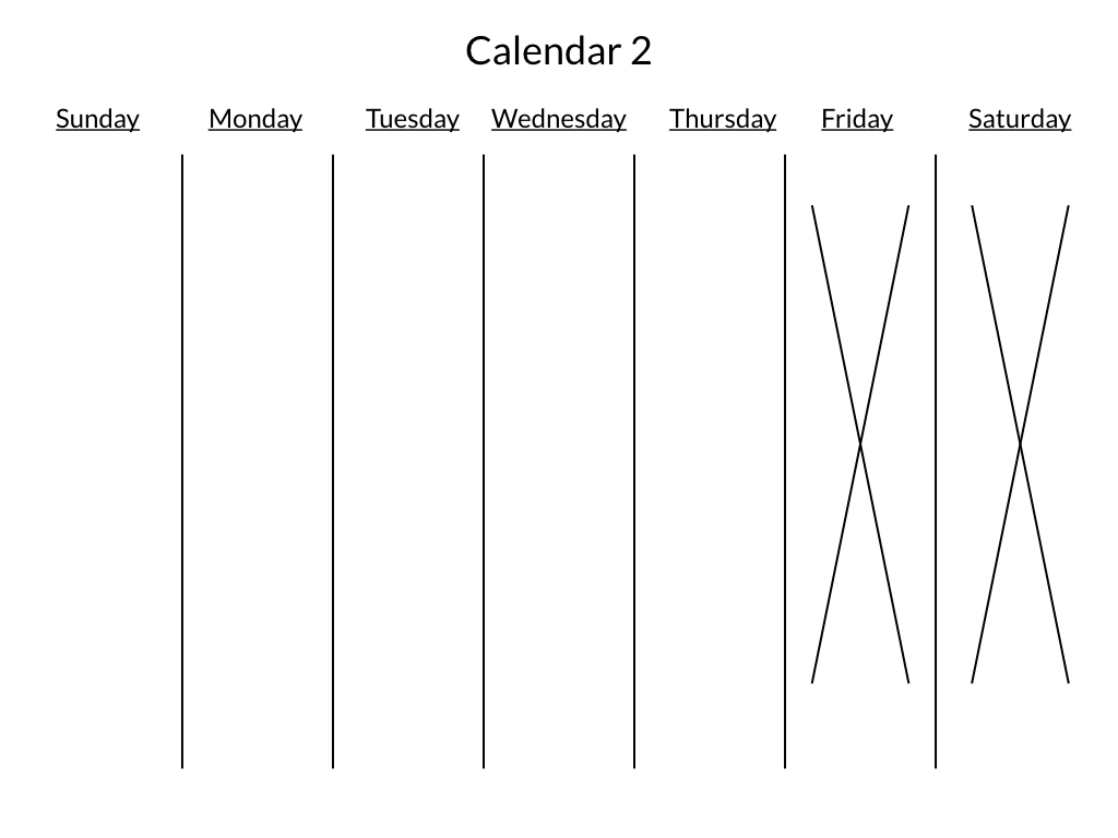monday to friday schedule