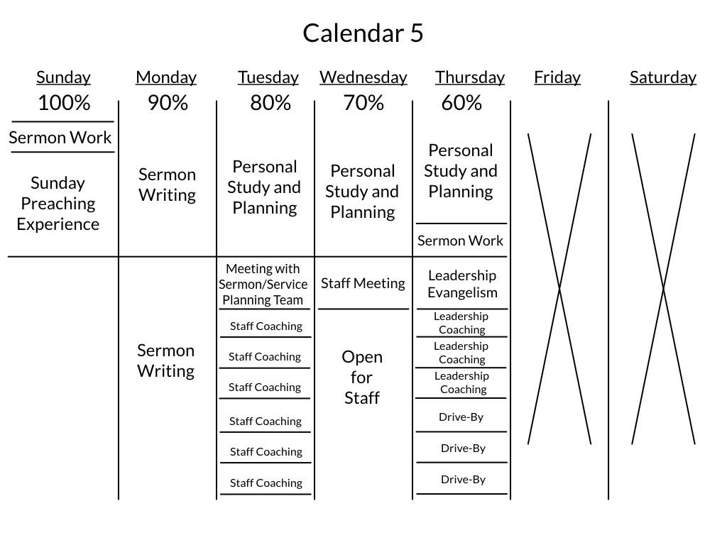How senior pastors can schedule their week for maximum impact for Worship schedule template