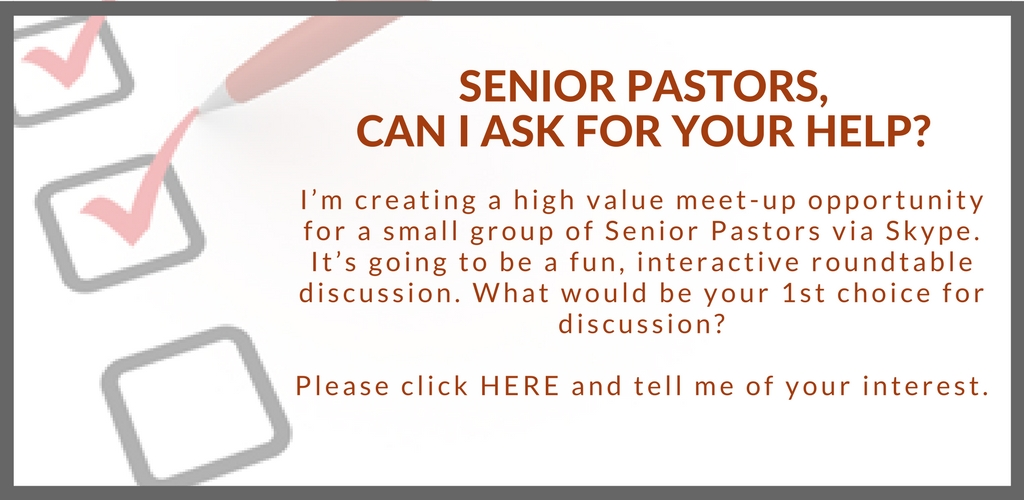 Please take my Senior Pastor Survey