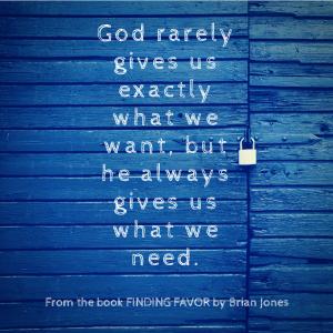finding favor by brian jones